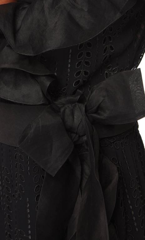 Chanel haute couture black gown, circa 1974 In Excellent Condition For Sale In London, GB