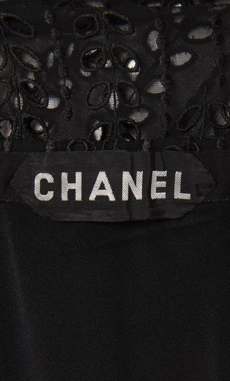 Women's Chanel haute couture black gown, circa 1974 For Sale