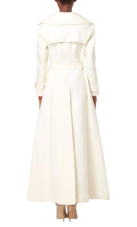 Dior White Trench Coat Circa 1970 At 1stdibs