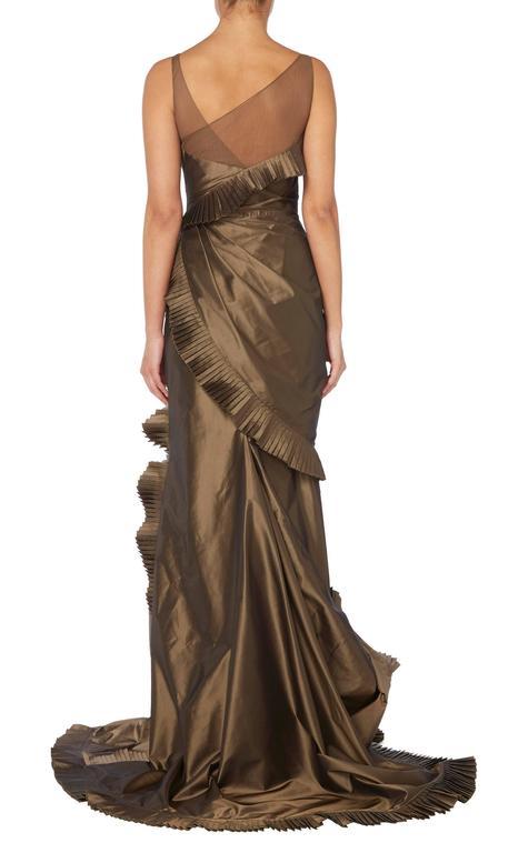 Black Dior brown dress, circa 2003 For Sale