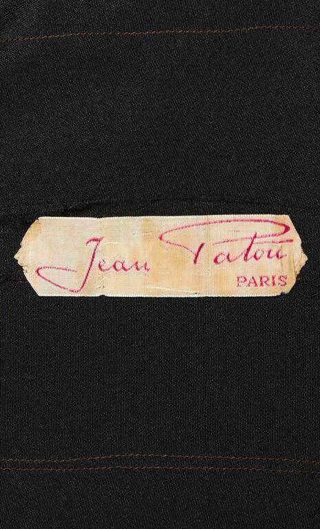 Jean Patou haute couture black dress, Autumn/Winter 1932 5