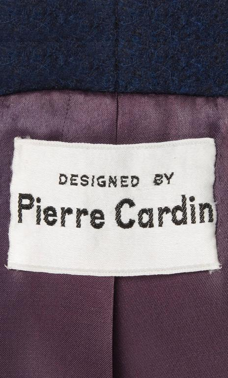 Pierre Cardin navy coat, circa 1959 5