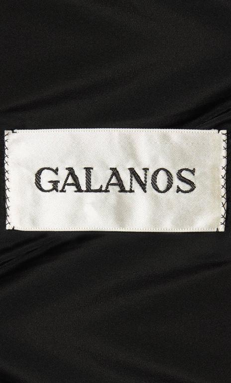 Galanos black dress, circa 1967 5
