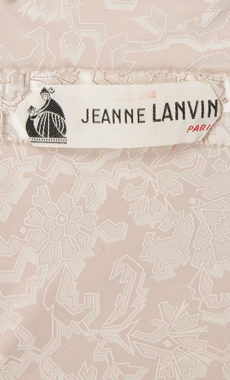 Women's Jeanne Lanvin haute couture silver gown, Spring/Summer 1948 For Sale