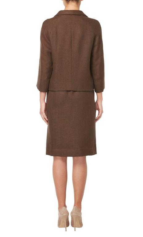 Balenciaga haute couture brown skirt suit circa 1966 at for Haute couture suits