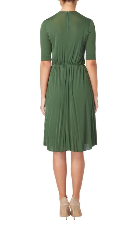 Madame Grès haute couture green dress, circa 1945 In Excellent Condition For Sale In London, GB