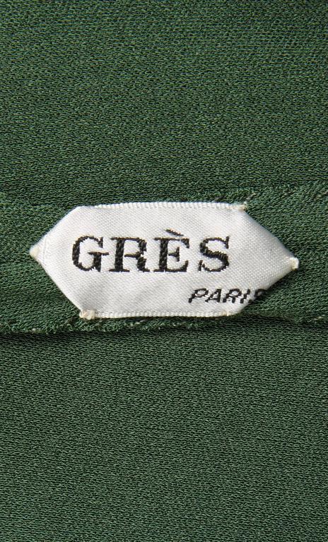 Madame Grès haute couture green dress, circa 1945 5