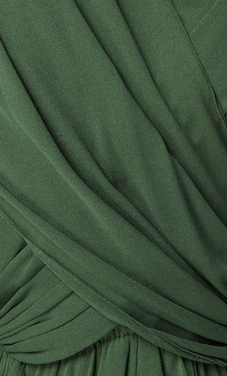 Madame Grès haute couture green dress, circa 1945 4
