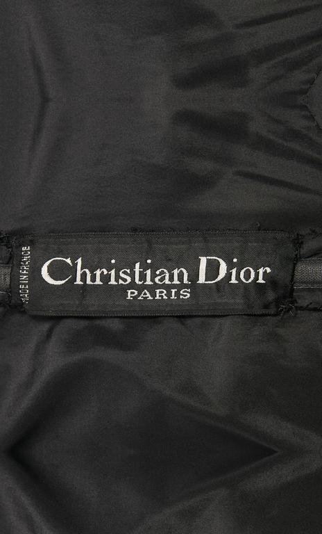Women's Dior haute couture black dress, Autumn/Winter 1959 For Sale