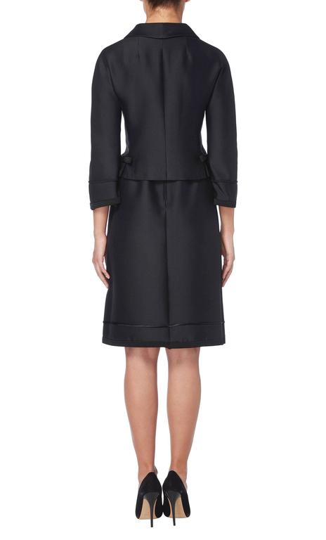 Dior black skirt suit, circa 1962 4
