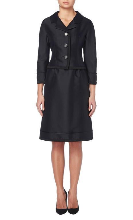 Dior black skirt suit, circa 1962 3