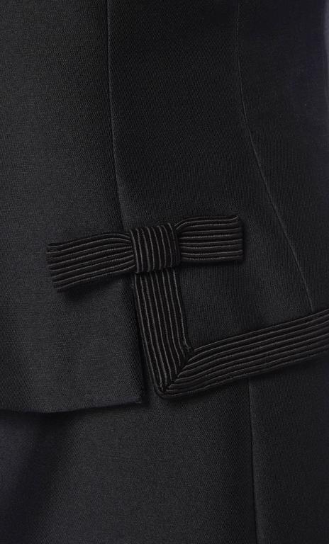 Dior black skirt suit, circa 1962 5