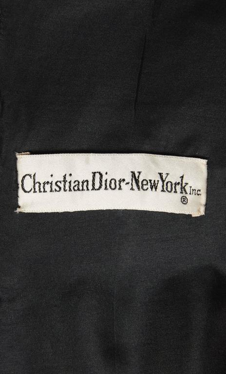 Dior black skirt suit, circa 1962 6