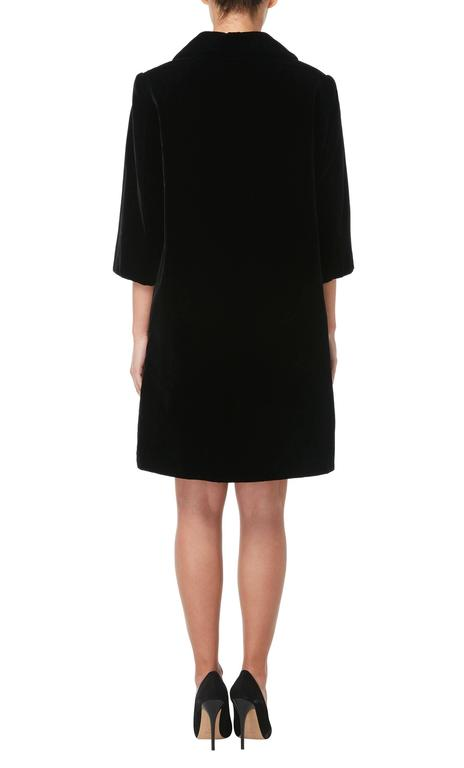 Black Dior haute couture black coat, Autumn/Winter 1959 For Sale
