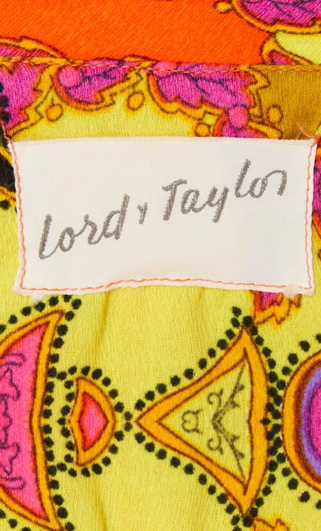 Lord & Taylor orange & yellow print jumpsuit, circa 1968 5