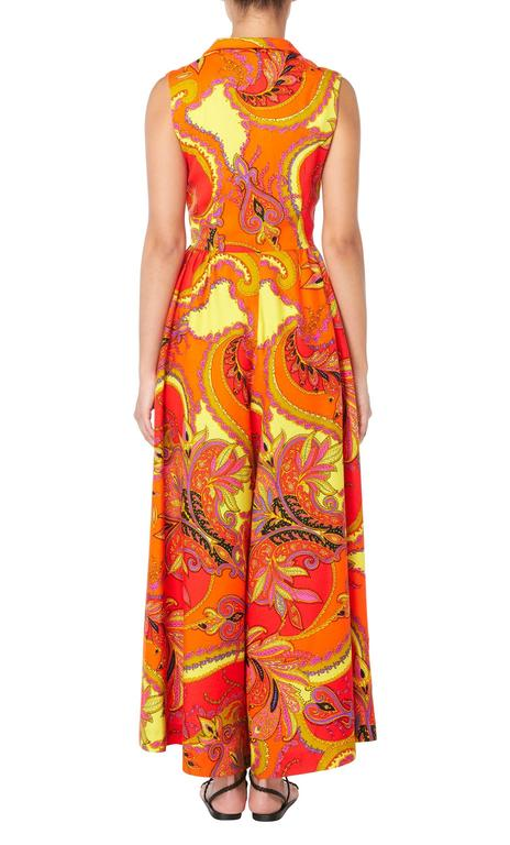 Lord & Taylor orange & yellow print jumpsuit, circa 1968 3