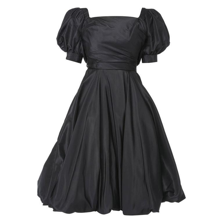 Ceil Chapman black dress, circa 1958 For Sale