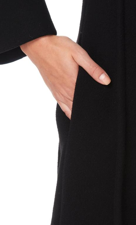 Black Pierre Cardin black coat, circa 1964 For Sale