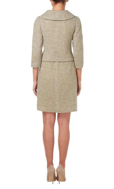 Mainbocher haute couture tweed skirt suit, circa 1960 3