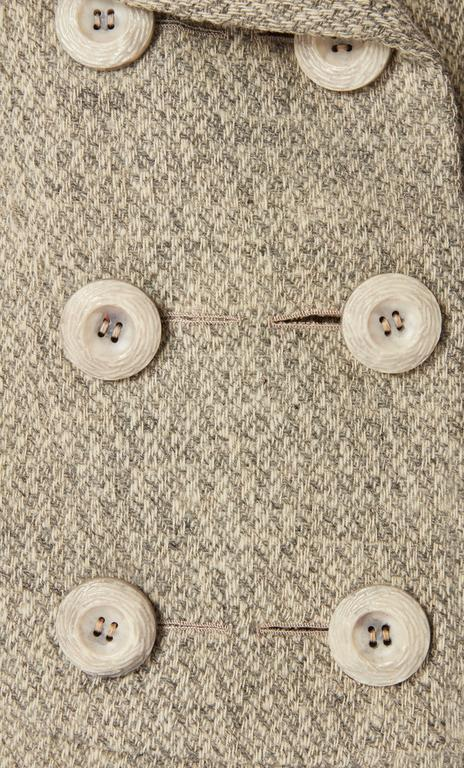 Mainbocher haute couture tweed skirt suit, circa 1960 4