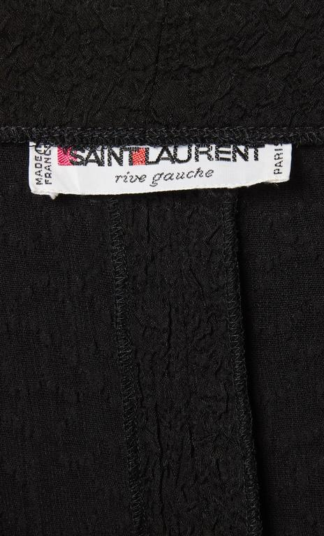 Yves Saint Laurent black dress, circa 1987 5