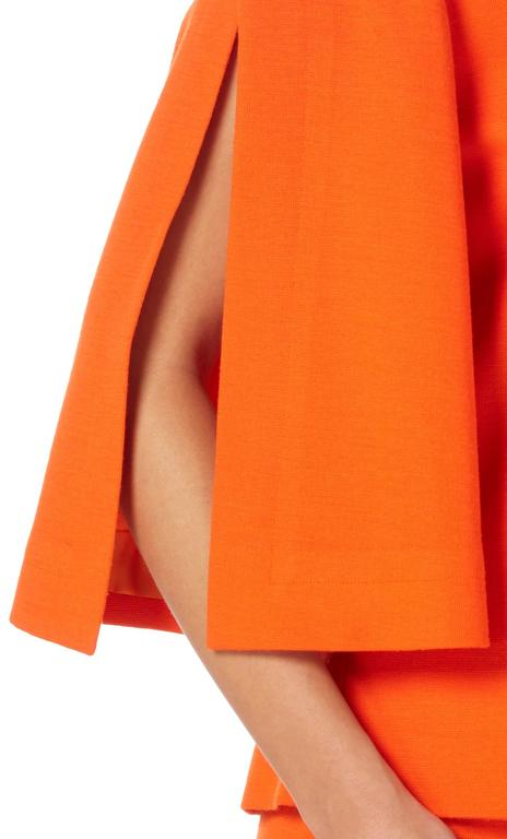 Pierre Cardin orange skirt suit, circa 1980 In Excellent Condition For Sale In London, GB