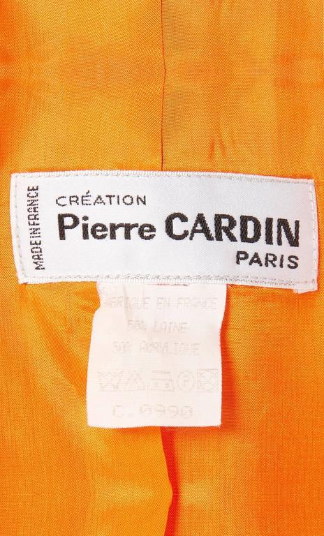 Pierre Cardin orange skirt suit, circa 1980 5