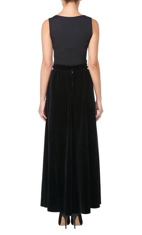 Jean Patou black cape & skirt, circa 1970 5