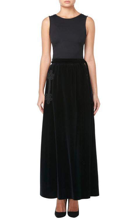 Jean Patou black cape & skirt, circa 1970 3
