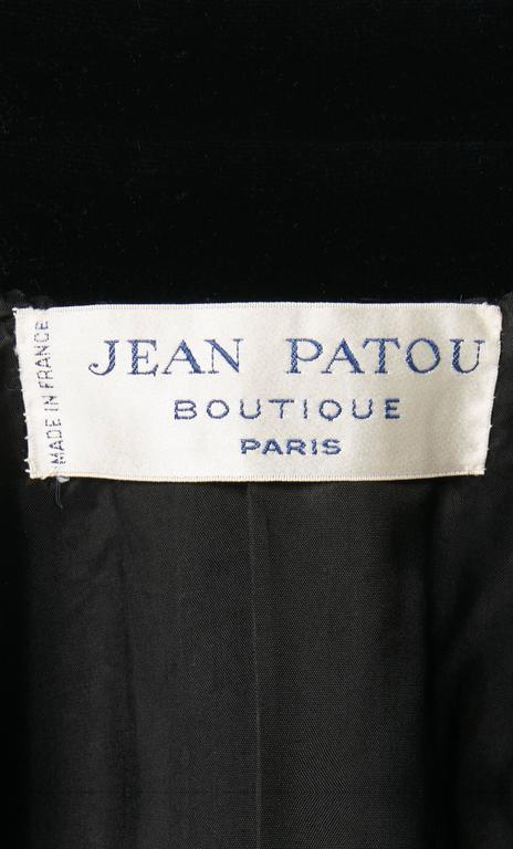 Jean Patou black cape & skirt, circa 1970 7