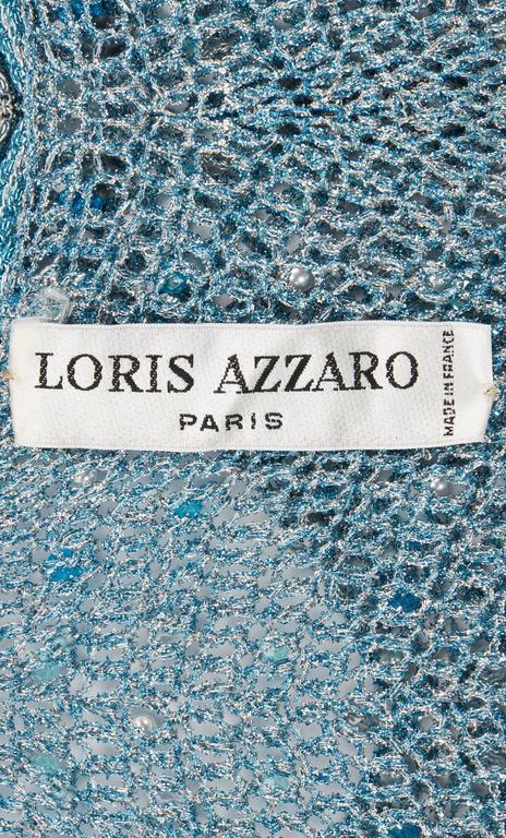 Women's Azzaro turquoise skirt & top, circa 1978 For Sale
