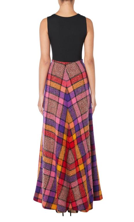 Brown Missoni multicoloured skirt, circa 1975 For Sale