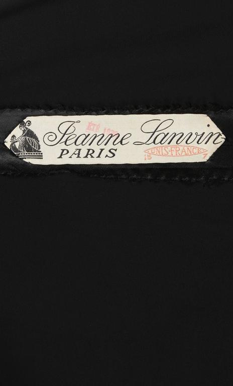 Lanvin haute couture black dress, Spring/Summer 1938 5