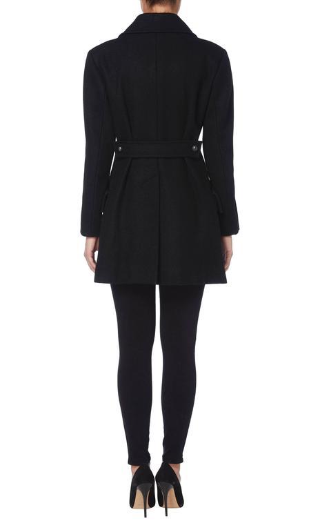 Yves Saint Laurent black peacoat, circa 1979 3