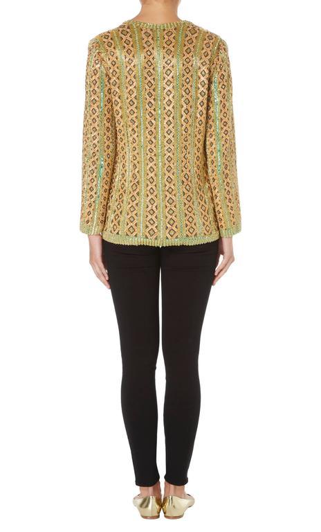 Women's Yves Saint Laurent haute couture gold jacket, Spring/Summer 1973 For Sale