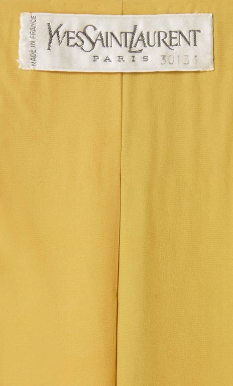 Yves Saint Laurent haute couture gold jacket, Spring/Summer 1973 For Sale 2
