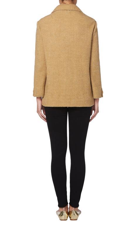 Brown Guy Laroche brown tweed jacket, circa 1963 For Sale