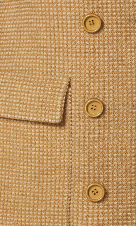 Guy Laroche brown tweed jacket, circa 1963 In Excellent Condition For Sale In London, GB