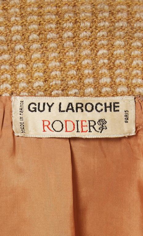 Women's Guy Laroche brown tweed jacket, circa 1963 For Sale