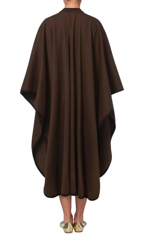 Yves Saint Laurent  brown cape, circa 1976 3