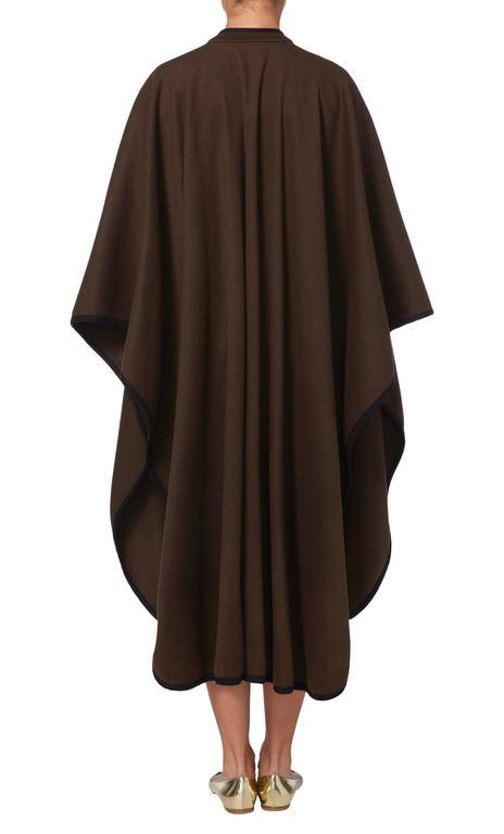 Black Yves Saint Laurent  brown cape, circa 1976 For Sale