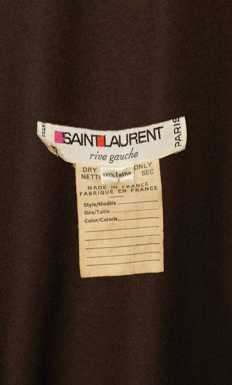 Women's Yves Saint Laurent  brown cape, circa 1976 For Sale