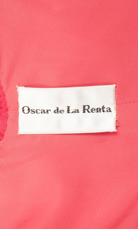 Women's Oscar de la Renta pink and gold dress, Circa 1968 For Sale