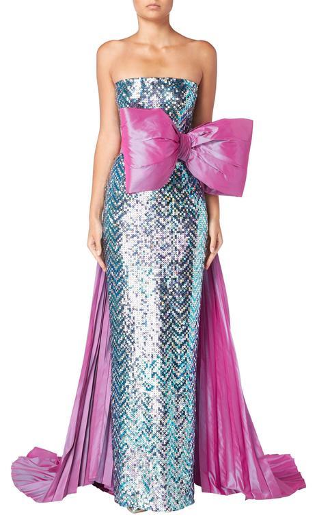 Pierre Cardin haute couture sequin gown, 1991 3