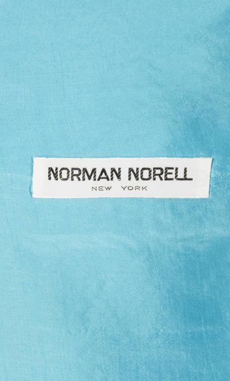 Women's Norman Norell blue skirt suit, circa 1965 For Sale