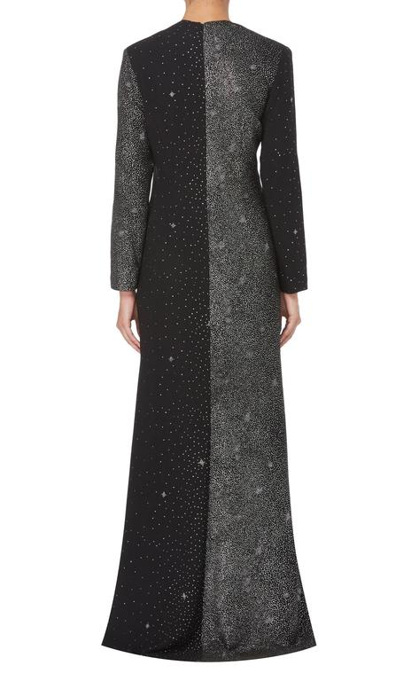 Christian Lacroix black maxi dress, circa  3