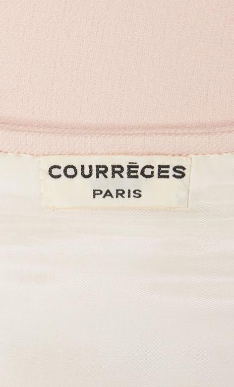 Courrèges haute couture pink dress, circa 1966 5