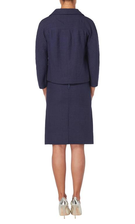 Balenciaga haute couture navy skirt suit circa 1963 for for Haute couture suits