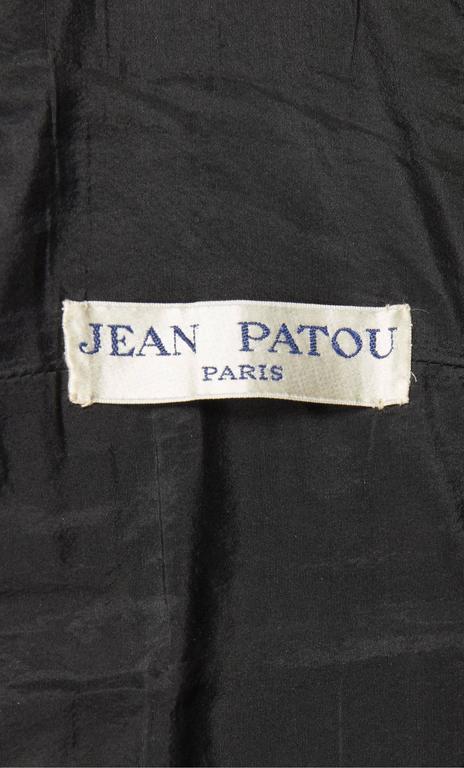 Jean Patou by Christian Lacroix black sequin dress, circa 1986 6