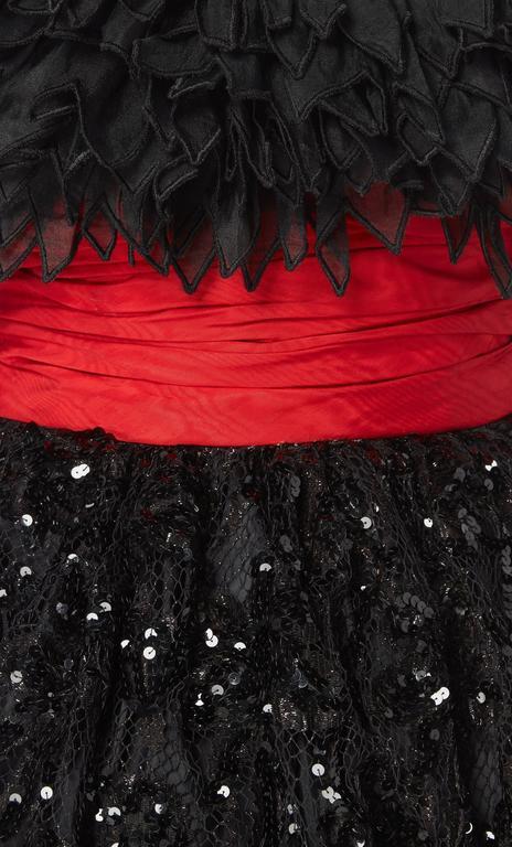 Jean Patou by Christian Lacroix black sequin dress, circa 1986 5